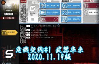 アークナイツ 危機契約#1 武器庫東 2020.11.19版
