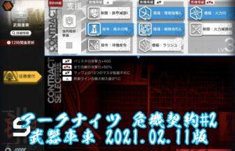 アークナイツ 危機契約#2 武器庫東 2021.02.11版