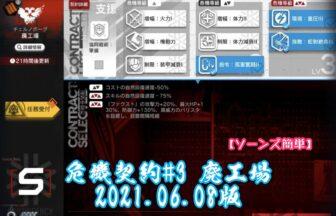 危機契約#3 廃工場 2021.06.08版 【ソーンズ簡単】